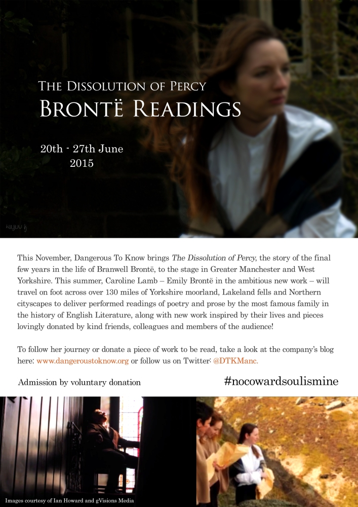 Brontë Readings Tour: June 2015 Fundraiser